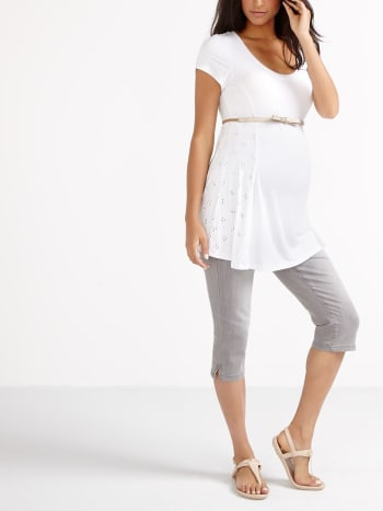 Insider - Denim Maternity Capri