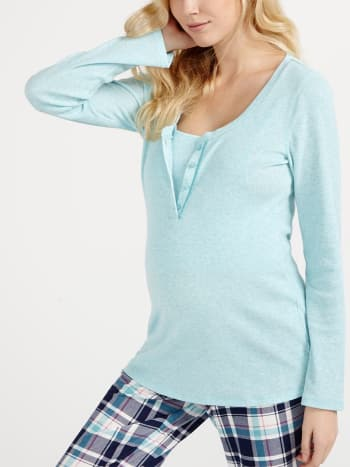Long Sleeve Nursing Pyjama Top