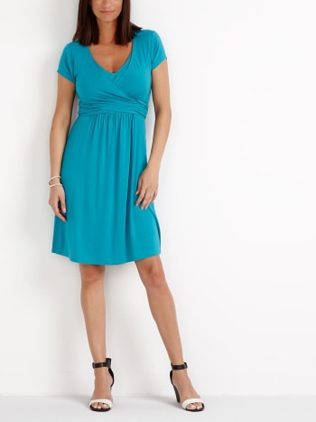 Nursing Kit - Cap Sleeve Wrap Nursing Dress