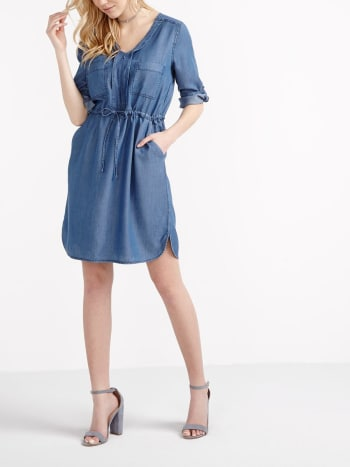 3/4 Sleeve Nursing Shirtdress