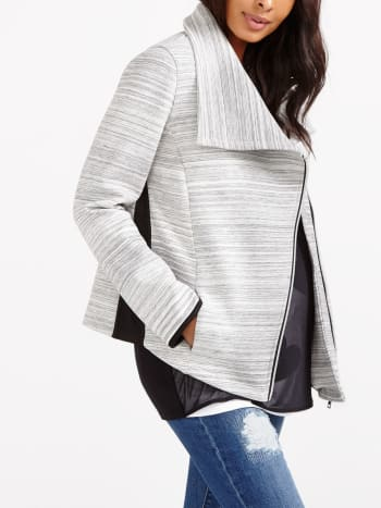 Knit Maternity Moto Jacket