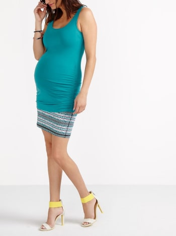 Sleeveless Maternity Top with Strap Detail