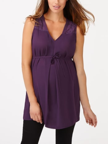 Sleeveless Maternity Tunic