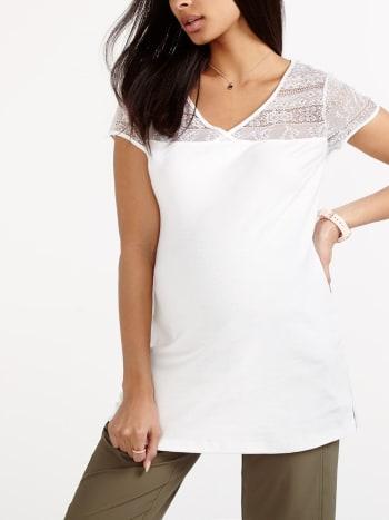 Cap Sleeve Cotton Maternity Blouse.Plaid.XXS