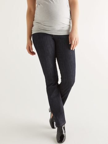 Dark Wash Bootcut Maternity Jean.Dark Denim.XXL