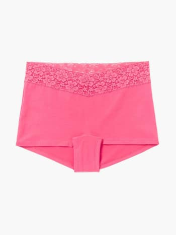 Boyshort Maternity Panty with Lace