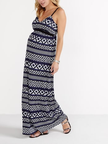 Printed Maxi Maternity Dress