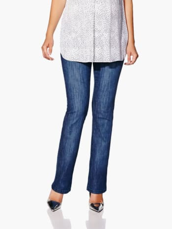 Bootcut Maternity Jean.Medium Denim Blue.L