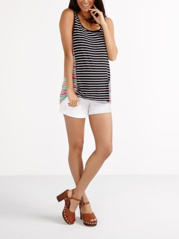 Mixed Stripes Maternity Tank Top