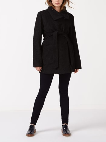 Wrap Wool Maternity Coat