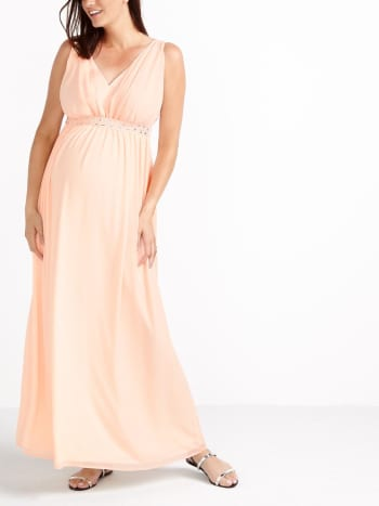 Stork & Babe - Sleeveless Maternity Maxi Dress
