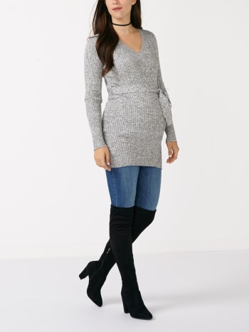 Long Sleeve Knit Maternity Tunic