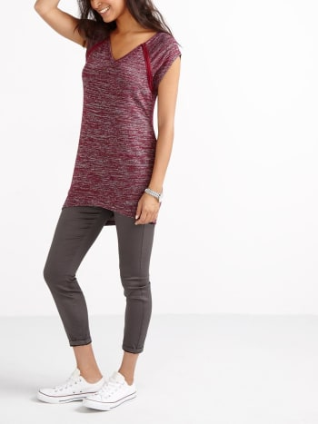 Cap Sleeve Knit Nursing Tunic