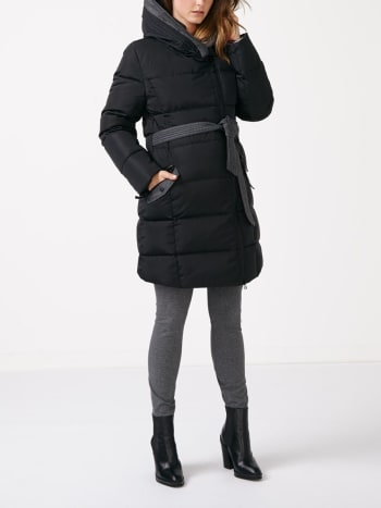 Dressy Maternity Down Coat with Extender Panel