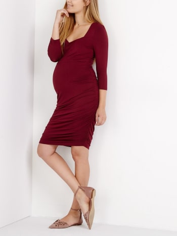 Stork & Babe - Square Neck Maternity Dress