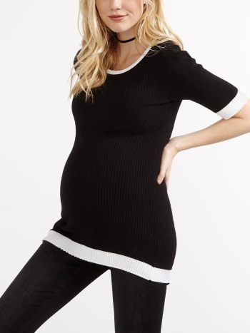 Stork & Babe - Elbow Sleeve Knit Maternity Top