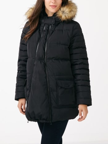 Down Maternity Coat with Extender Panel