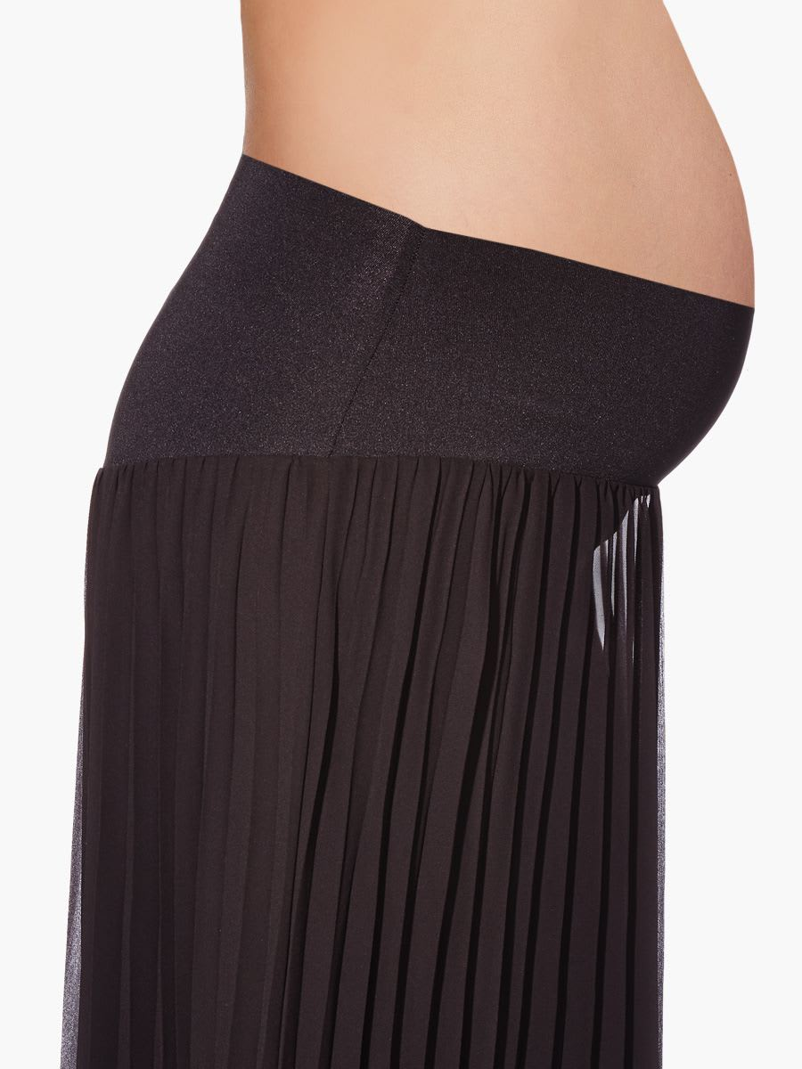 nepton pleated maternity maxi skirt thyme