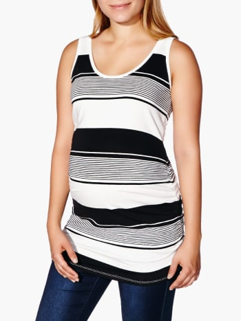 Two-Way Striped Maternity Tank Top