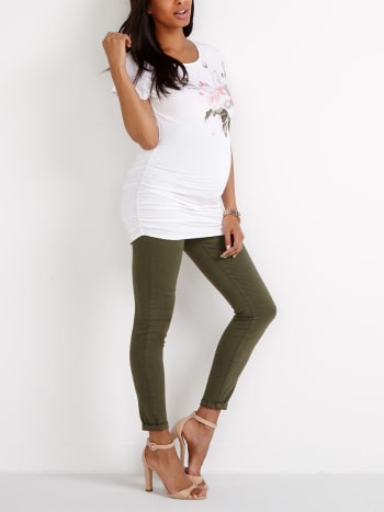 Insider - Super Skinny Coloured Maternity Jean