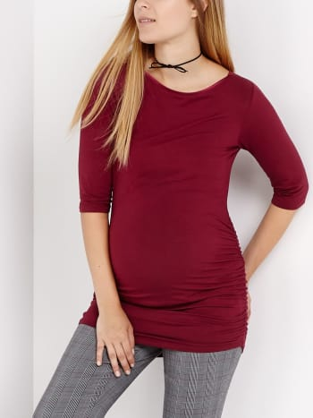 Stork & Babe - Elbow Sleeve Maternity Top