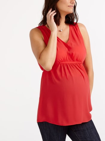 Stork & Babe - Sleeveless Maternity Blouse