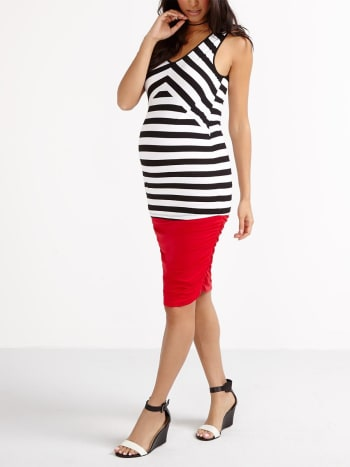 Stork & Babe - Sleeveless Striped Maternity Top