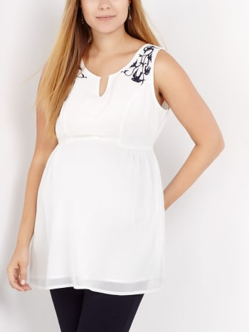 Stork & Babe - Embroidered Maternity Blouse