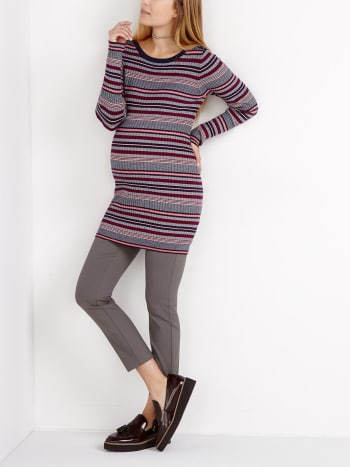 Stork & Babe - Striped Maternity Sweater