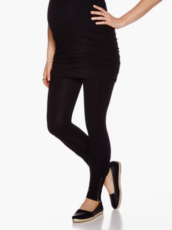 Maternity Legging With Zipper Detail