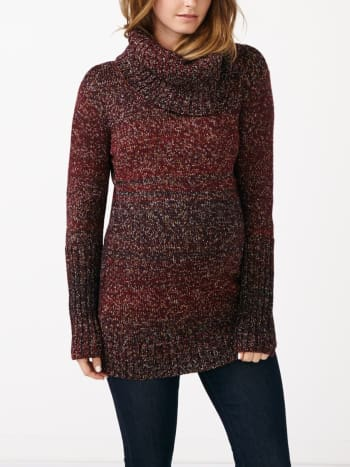 Long Sleeve Turtleneck Maternity Sweater
