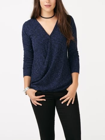 Long Sleeve Crossover Nursing Top