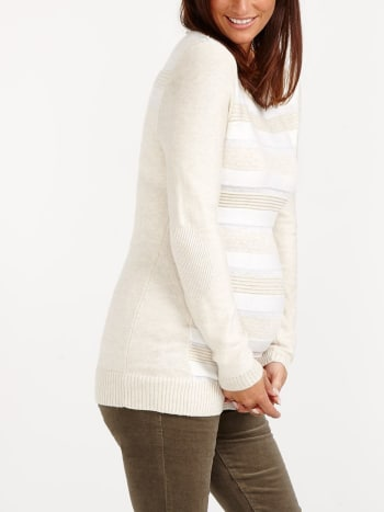Striped Maternity Sweater