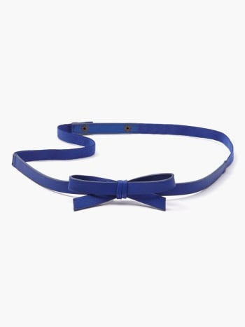 Faux-Leather Bow Maternity Belt.Black.S/M