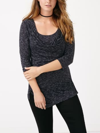 3/4 Sleeve Asymmetric Nursing Top
