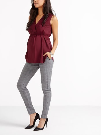 Stork & Babe - Plaid Maternity Power Pant