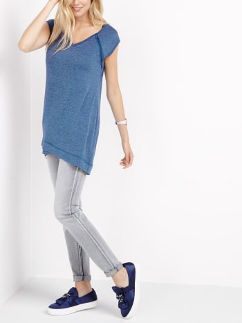 Short Sleeve Cross-Over Nursing Tunic