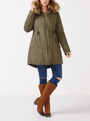 2-in-1 Hooded Maternity Anorak with Extender Panel