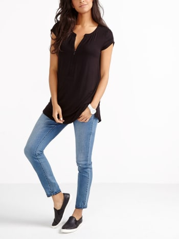 Short Sleeve Nursing Tunic