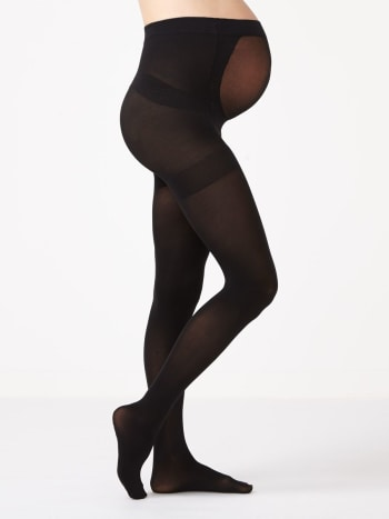 Black Maternity Tights.Black.C/D