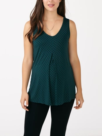 Stork & Babe - Sleeveless Printed Maternity Top