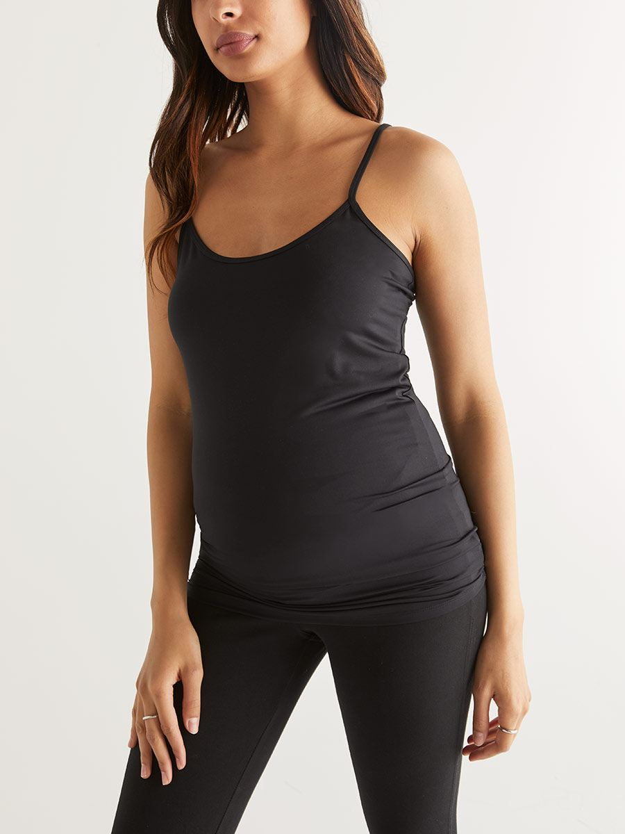 Women's Nursing Top Tank Cami Maternity Shirt Sleep Bra for Pregnancy