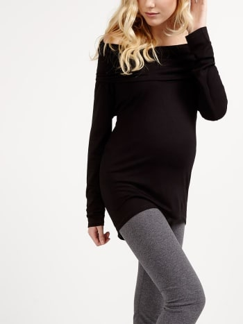 Long Sleeve Cowl Neck Maternity Pyjama Tunic