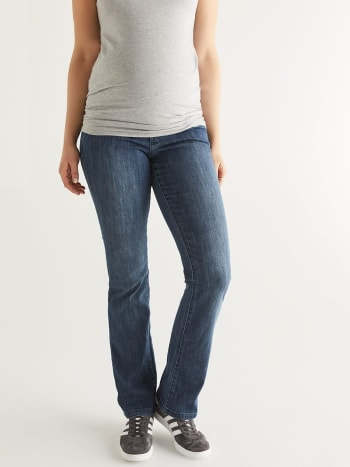 Bootcut Maternity Jean.Medium Denim Blue.XXL