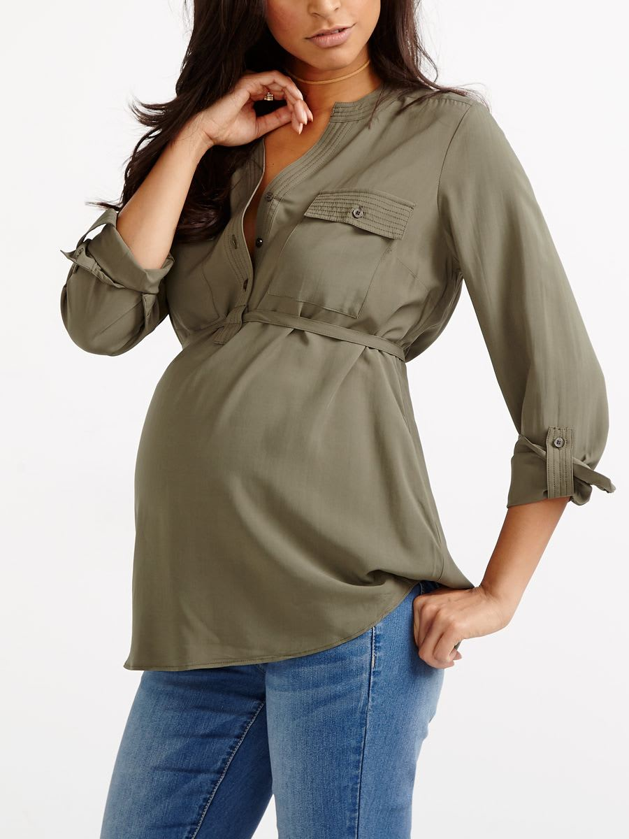 Maternity Long Sleeve Blouses