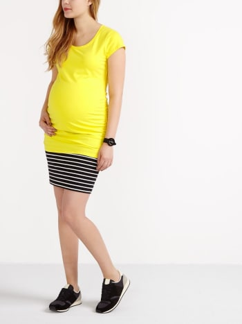 Cap Sleeve Scoop Neck Maternity T-Shirt