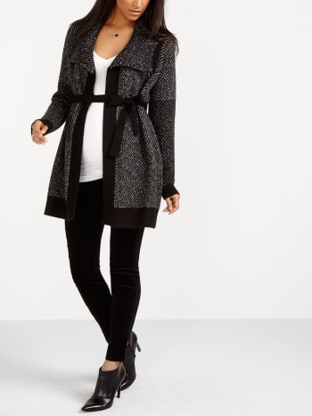 Chunky Knit Maternity Cardigan
