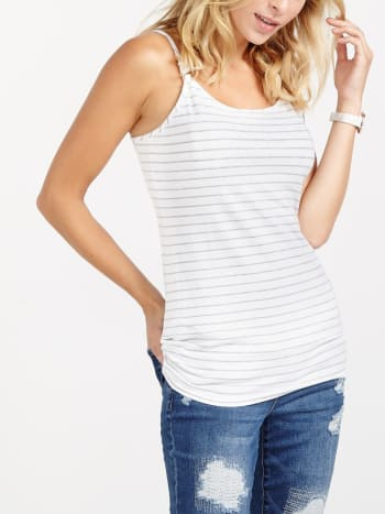 Nursing Kit - Striped Nursing Tank Top