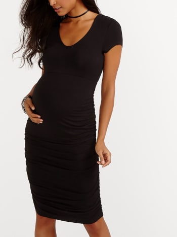 Stork & Babe - Short Sleeve Bodycon Maternity Dress