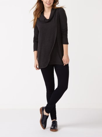 Long Sleeve Crossover Nursing Sweater
